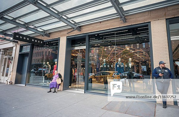 A Hugo Boss store in the Meatpacking District in New York