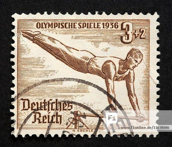 German postage stamp.