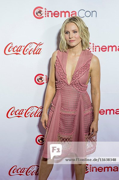 Actress Kristen Bell  one of the recipients of the Female Stars of the Year Award  attends the CinemaCon Big Screen Achievement Awards at The Caesars Palace in Las Vegas.