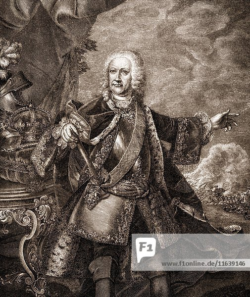 Francis I. or Franz Stephan of Lorraine  1708 - 1765  as Francis III. Duke of Lorraine and Bar  as Francis II. Grand Duke of Tuscany  and Francis I. Emperor of the Holy Roman Empire .
