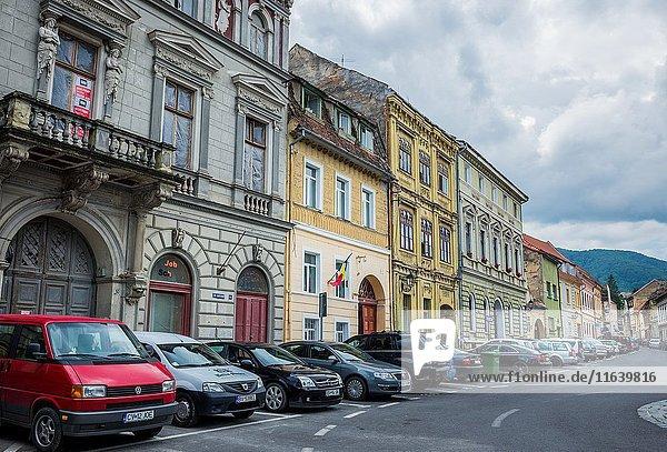 Tenement houses at Castelului Street in Brasov  Romania.