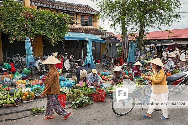 Central market in Hoi An Ancient Town. Quang Nam Province  Vietnam.