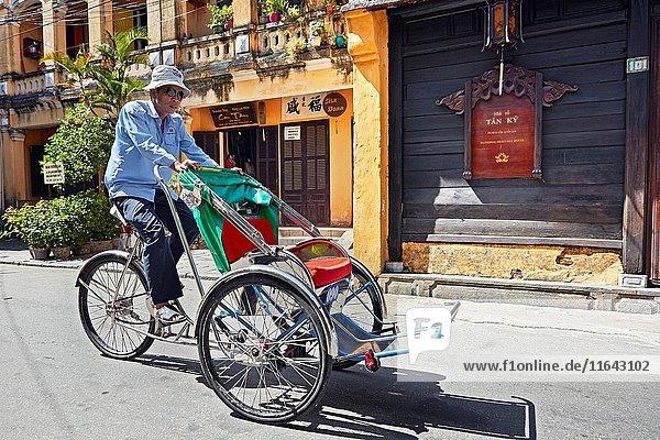 Pedicab in Hoi An Ancient Town. Quang Nam Province  Vietnam.