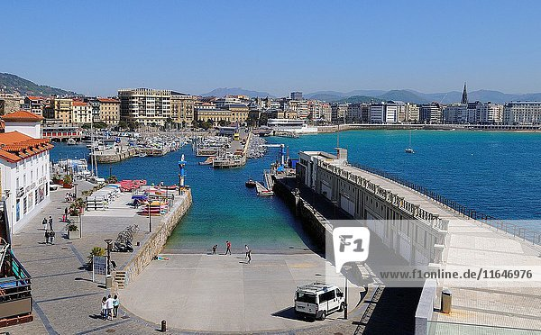 Port of San Sebastián.Donostia.Guipúzcoa province.Euskadi.País Vasco.Spain