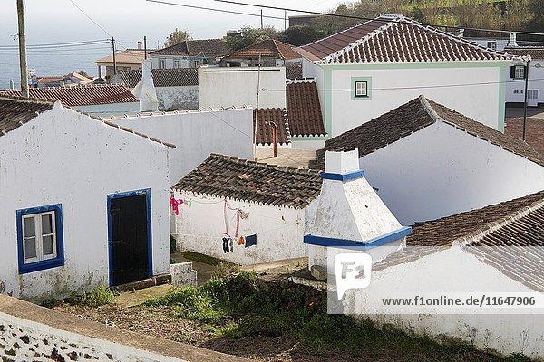Sao Sebastiao typical village in Terceira island Azores Portugal.