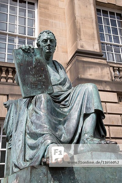 David Hume Statue by Stoddart  Royal Mile Street  Edinburgh  Scotland.