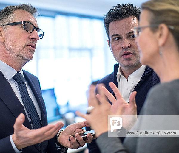Amtskollegen im Gespräch