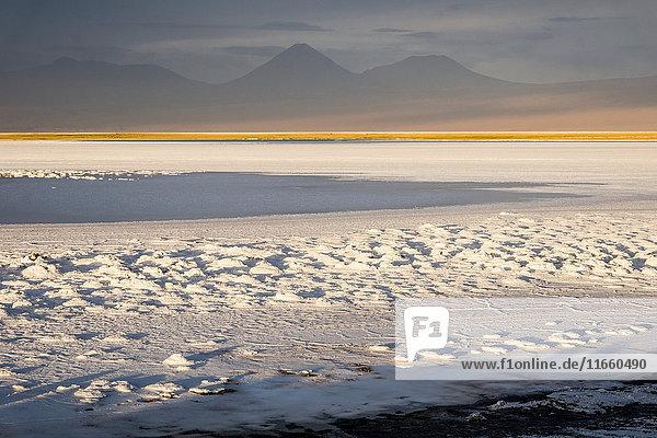 Snow covered landscape  San Pedro de Atacama  Chile