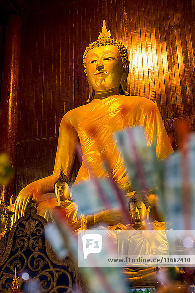 Buddhist temple golden buddha  Chiang Mai  Thailand
