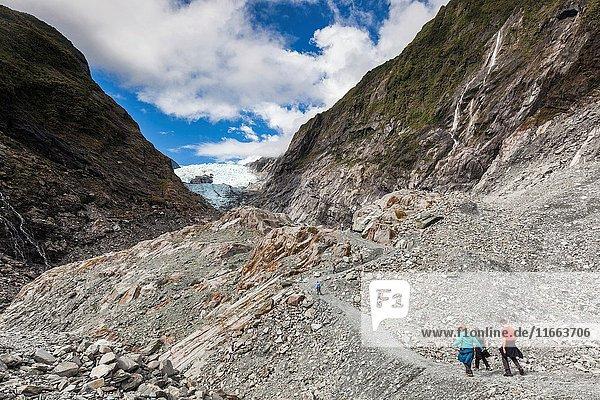 New Zealand  South Island  West Coast  Franz Josef  Franz Josef Glacier  Waiho River hike.
