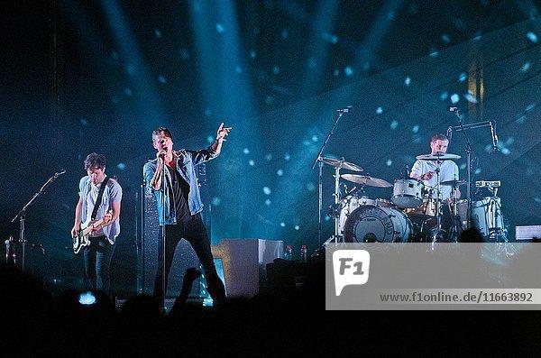2 August 2013 - Santander  Spain - British pop rock band Keane performs at the Santander Music 2013 festival.