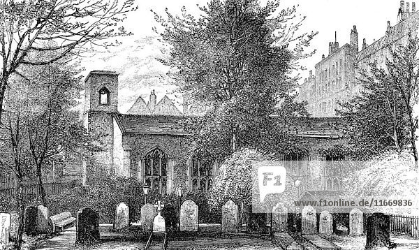 The Queen's Chapel of the Savoy  19th century  London  England.