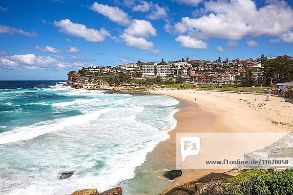 Bronte Beach in the eastern suburbs of Sydney  New south wales  Australia on an Autumn Day