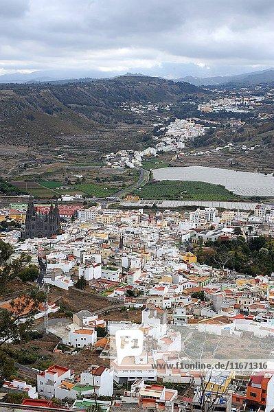 Arucas is a Gran Canaria municipality located next to Montana de Arucas volcano. Las Palmas  Gran Canaria  Canary Islands  Spain.