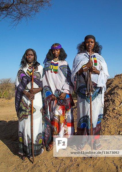 Borana tribe women during the Gada system ceremony  Oromia  Yabelo  Ethiopia.
