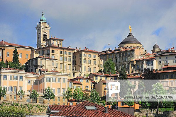 The Old Town of Bergamo  Italy.