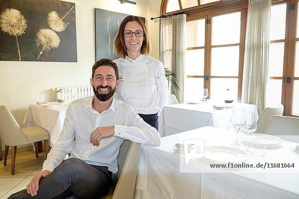 Caterina Pieras y David Ribas  Restaurante y petit Hotel Daica  Llubí  Mallorca  balearic islands  spain.
