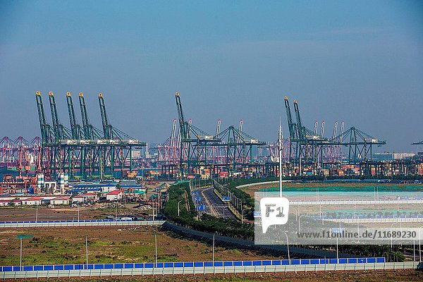 Tianjin port in China