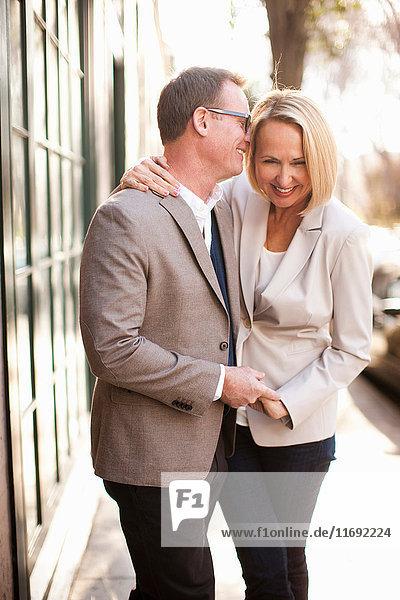 Happy heterosexual couple