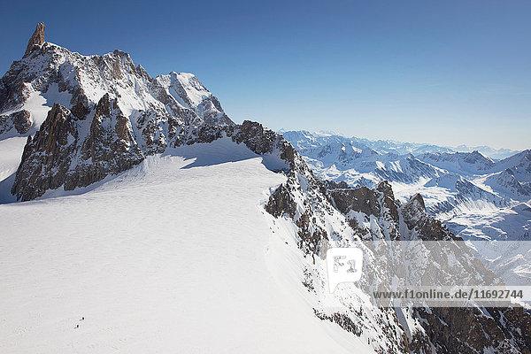 Snowcapped Mont Blanc  Helbronner  Chamonix  Italy