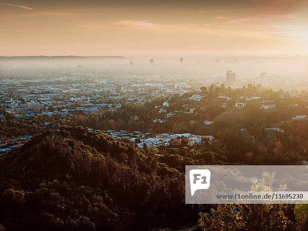 Luftaufnahme von Los Angeles