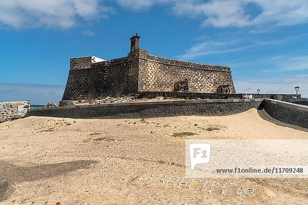 Castle of San Gabriel at the island capital Arrecife  Lanzarote  Canary Islands  Spain.
