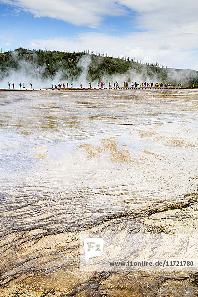 'Excelsior Geyser  Yellowstone National Park; Wyoming  United States of America'