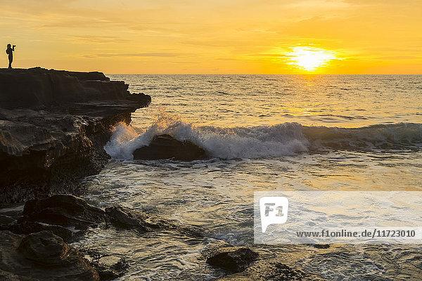 über Ozean Küste Ansicht Bali