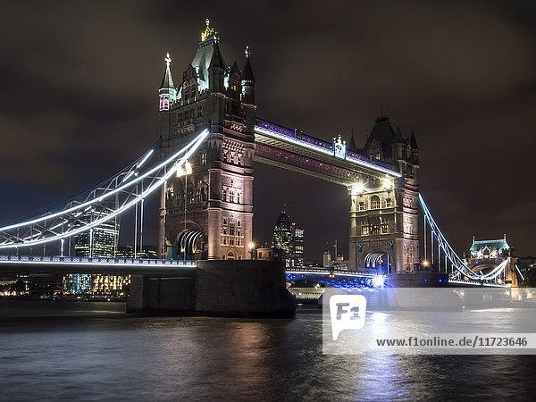 'Tower Bridge at sunset; London  England'