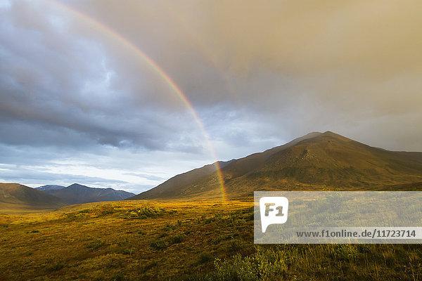 'Rainbow On Brooks Range  Gates Of The Arctic National Park  Northwestern Alaska Above The Arctic Circle; Alaska  United States Of America'