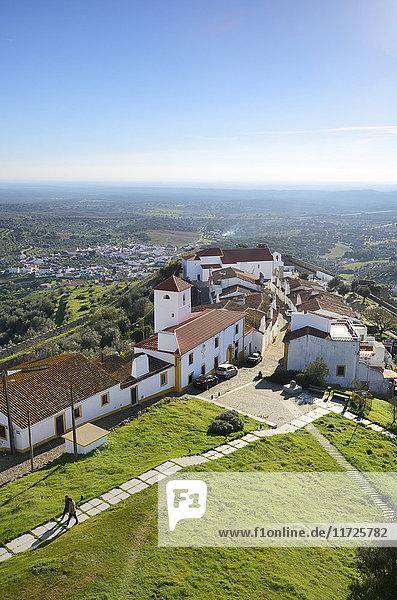 The medieval walled village of Evoramonte. Alentejo  Portugal