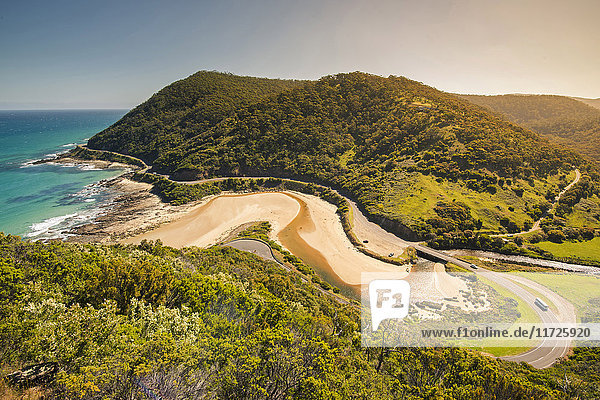 Great Ocean Road  Victoria  Australia. High angle view at sunset.