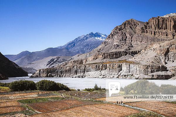 Landscape near Chhusang  Upper Mustang region  Nepal