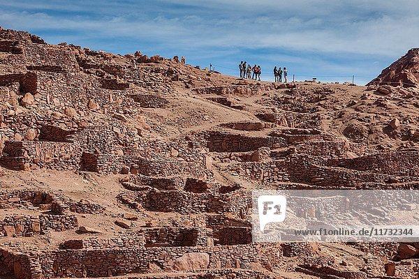 Pukara de Quitor  in San Pedro de atacama village  Atacama desert. Region de Antofagasta. Chile.