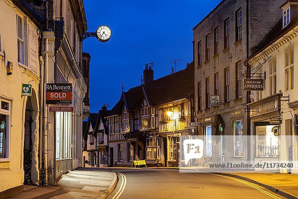 Dawn in Winchcombe  small town in the Cotswolds  Gloucestershire  England.