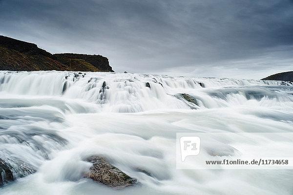 Gullfoss waterfall  Hvita river  south west Iceland