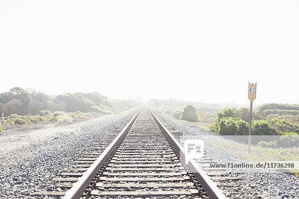 Eisenbahnschienen  Ventura  Kalifornien  USA