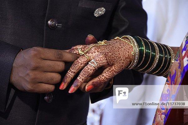Hindu engagement ceremony.
