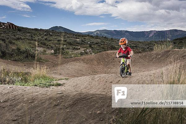 Radfahren für Kleinkinder  Trailside Bike Park  Park City  Utah  USA
