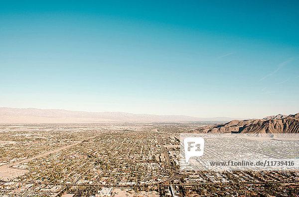 Blick auf Palm Springs  Kalifornien  USA