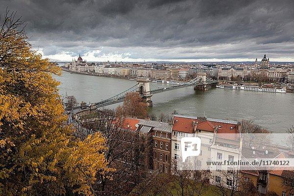 Budapest from Palace of Buda. Budapest.