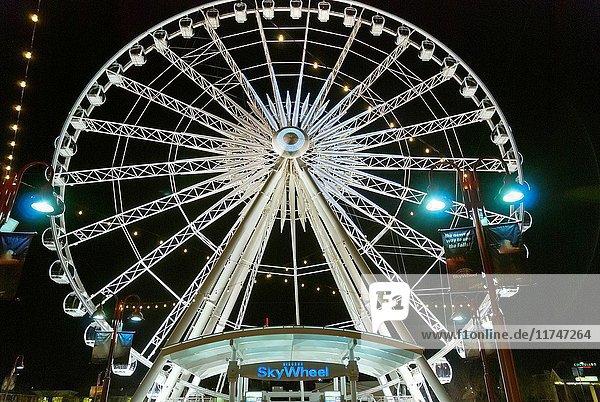 Ferris wheel on Clifton Hill in Niagara Falls  Ontario.