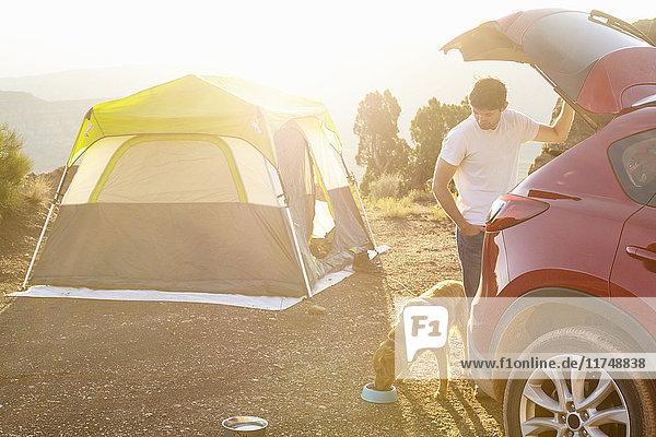 Camping für Mensch und Hund  Virgin  Utah  USA