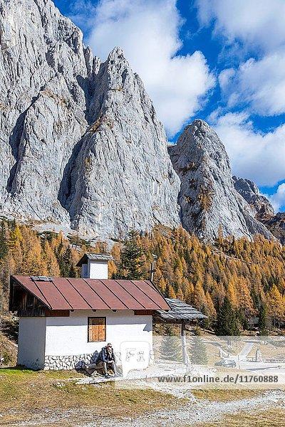Passo di Col di Caneva  Province of Belluno  Veneto  Italy  Europe.