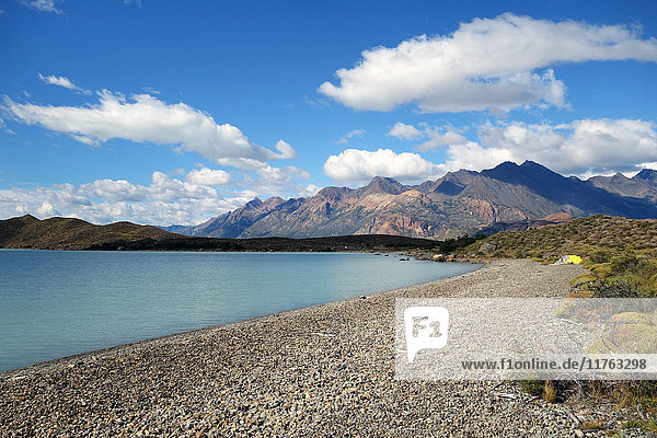 Camping on the shores of Lago Viedma  Argentine Patagonia  Argentina  South America
