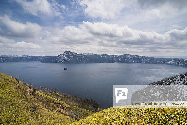 The caldera of Lake Mashu  Akan National Park  Hokkaido  Japan  Asia