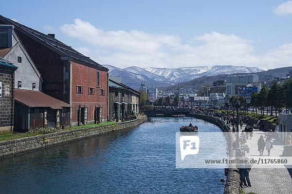 Otaru canal  Otaru  Hokkaido  Japan  Asia