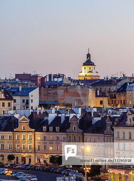 Old Town skyline at twilight  City of Lublin  Lublin Voivodeship  Poland  Europe