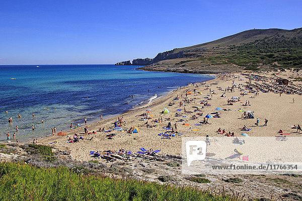 Cala Mesquida near Capdepera  Majorca  Balearic Islands  Spain  Mediterranean  Europe