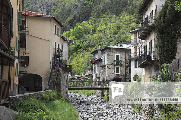 The Village of La Brigue  Roya Valley  Alpes Maritimes  Cote d'Azur  Provence  France  Europe